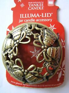 Yankee Candle illuma Lid Topper Christmas Gold Bells New on Card FREE Shipping