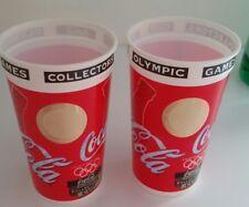 Set of 2 1996 Atlanta Olympic Games Coca Cola Collector's Cup w/ Hologram