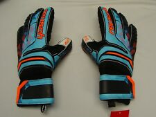 Reusch Soccer Goalie Gloves PRISMA SG Finger Support 3870010S Blue SZ 9 SAMPLES