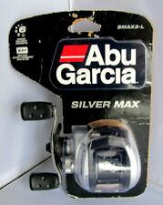 Abu Garcia SMAX3-L Silver Max Low Profile Baitcast Fishing Reel - Left Handed