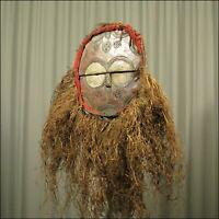 59905) Afrikanische Teke Holz Maske Kongo Afrika KUNST