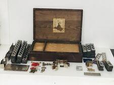 Vintage 1900's Gilbert Erector Accessory 7A w/Wood Box