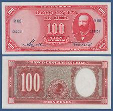 Chile 100 pesos (1947-58) p.114 UNC
