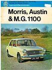 AUSTIN MORRIS MG 1100 MK1 MK2 SALOON & ESTATE 1962-71 OWNERS SERVICE MANUAL