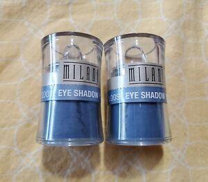 Lot of 2 Milani loose eye shadow shimmer powder 08 Misty Blue