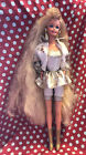 Vintage 1992 Hollywood Hair Barbie Doll #2308 orig outfit boots Ring