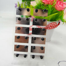 Wholesale 12pairs/ lot Colorful Pearl Beads 4sizes Ear Stud Earrings Lady Gift