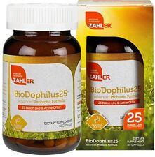 Acidophilus Probiotic 25 Billion CFU Live Cells Digestive Health ~Zahler 60 Caps