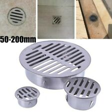 1pcs Floor Drain Stainless-Steel Balcony Drainage Roof Round Cover Anti Blocking