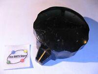Knob Large Round Black Bakelite 2-1/4in Diameter 1-in Tall - Vintage USED Qty 1