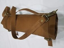 Hand made Real Tan Pure Leather Chef Knives /Bag/Pouch/Case 8 Pockets