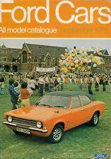 Ford Cars September 1975 UK Market Brochure Escort Cortina Capri Consul Granada