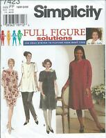 S 7423 sewing pattern DRESS TUNIC PANTS SKIRT sew Flattering sizes 18W-24W UNCUT