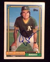 TONY LARUSSA 1992 TOPPS Autographed Signed AUTO Baseball Card ATHLETICS 429