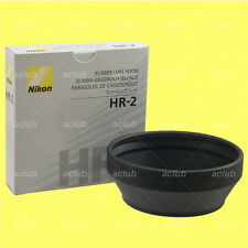 Genuine Nikon HR-2 Rubber Lens Hood for AI-S 50mm f/1.2 AF 50mm f/1.4D f/1.8D