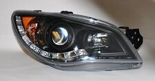 Black Projector LED DRL Headlights Pair RH LH FITS Subaru WRX 06-07