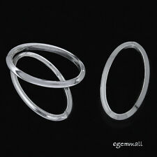 4 Sterling Silver Closed Oval Jump Ring Link Connector 7x12mm #97323