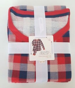 Gilligan & O'Malley Women's Really Red Plaid 2pc Thermal Pajamas Set, Size 1X
