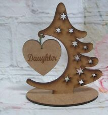 Christmas Tree Freestanding MDF Craft Blank Varied Styles 120mm