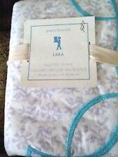 POTTERY BARN Kids Quilted Lara Standard Sham 26x20 Light Purple Blue Flowers NEW