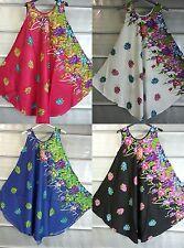Summer New Ladies Floral Printed Tunic Top Dress Boho Beach Kaftan 14161820 2224