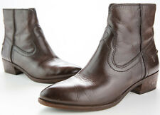Frye Womens Ray Seam Short Boot Brown Leather Bootie Size 7M EUC