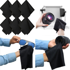 10Pack Black Premium Microfiber Cleaning Cloths for Lens Glasses Screen Set