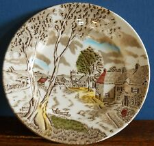 A hand coloured Sunday Morning pattern Side plate by W. H.Grindley