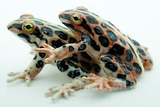 Figurine Animal Ceramic Statue Froest Frog Mating - CAF001