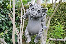 """Drache """"Waschtag"""" zum Hängen Gartendrachen Drachenfiguren Drache Figur Garten"""