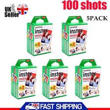 100 Shots Fuji Instax Mini Film for Fujifilm Mini 8 7s&Mini 90, 50,25 Cameras UK