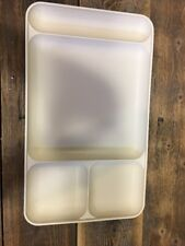 Tupperware #1535 TRAYS (5) Almond Divided Stackable School Daycare Camping TV