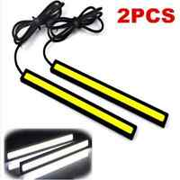 2PC Waterproof DC 12V Super Bright White Car COB LED Lights DRL Fog Driving Lamp