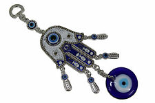 Hamsa Palm Evil Eye Amulet Protection White Hanger Medallion Turkish Feng Shui