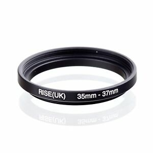 RISE(UK) 35mm-37mm 35-37 mm 35 to 37 Step Up Ring Filter Adapter black