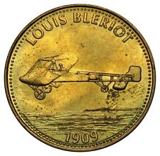 Netherlands fuel station reward token Shell Louis Bleriot plane 1909 1990's -