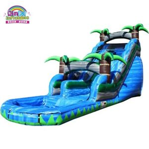 30x12x20 Ft PVC vinyl Commercial Inflatable Water Slide pool With Air Blower kit
