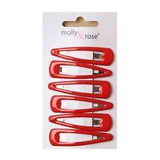 """5cm/2"""" Red Snap Hair clips Sleepies bendies School hair accessory hair clip UK"""