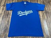 Los Angeles Dodgers Majestic Men's Blue MLB Baseball Shirt - Large