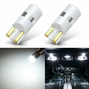 JDM ASTAR 2x White T10 Interior Map Dome Marker License Trunk Lights LED Bulbs