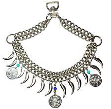 Native Egyptian Arabian Horse Noseband Saddle Chains Dance Show Tack Daggers