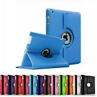 Leather 360 Rotate Folding Case Swivel Stand Case Cover For Apple iPad 2 3 4