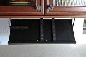 Drop Block Under Cabinet Knife Storage Rack - Small, Black