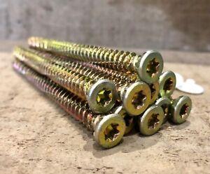 Pack 10 7.5mm x 82mm Allzweck Selbst Schneiden Mauerwerk Schrauben Zyp Mit Weiß