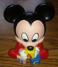 Vintage 1984 Baby Mickey Mouse Vinyl Shelcore Collectible Disney Figure Figurine
