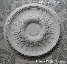 "Plaster Ceiling Rose Traditional, Leaf Center, Egg And Dart Detail  535 mm / 21"""