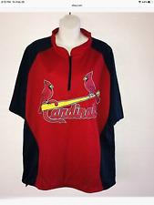 Mens Quarter 1/4 Zip St Louis Cardinals Shirt Xl Euc