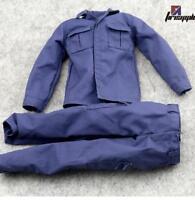 """1:6 Scale Blue SWAT Combat Uniforms/Alone pants clothes annex 12"""" Male Figure"""