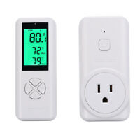 Wireless Temperature Controller,Electric Outlet Thermostat Built-in Temp Sensor