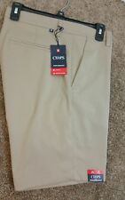 Mens Chaps Performance stretch shorts size 33 Crawford Tan
